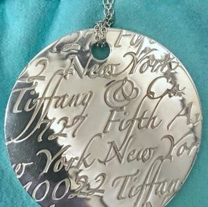 Tiffany & Co LARGE 5th Ave Notes Pendant Necklace
